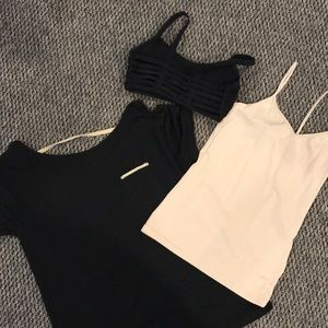 Open back top, bra and tank top